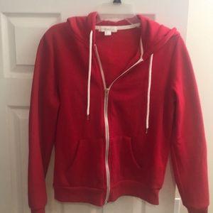 Zipper red hoodie